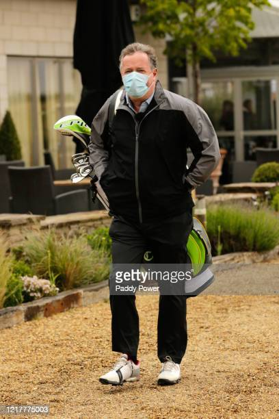 Presenter Piers Morgan takes part in the Paddypower Pro-Am Golf Shootout on June 5, 2020 in St Albans, United Kingdom.