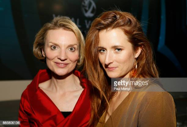 Presenter President and CEO Vital Voices Global Partnership Alyse Nelson and Presenter Actor Activist Grace Gummer pose for a photo together Vital...