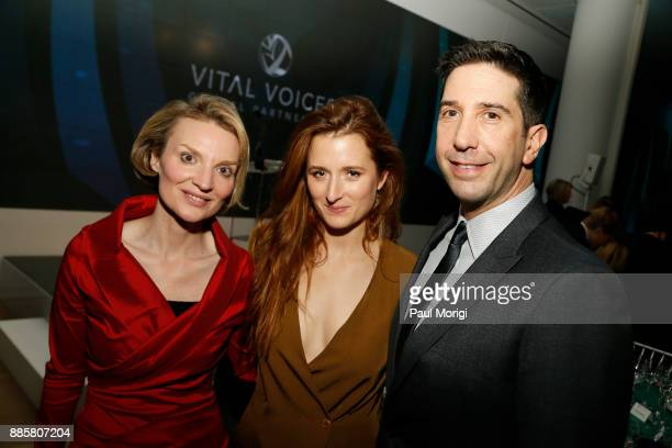 Presenter President and CEO Vital Voices Global Partnership Alyse Nelson and Presenter Actor Activist Grace Gummer and Honoree Actor and Director...