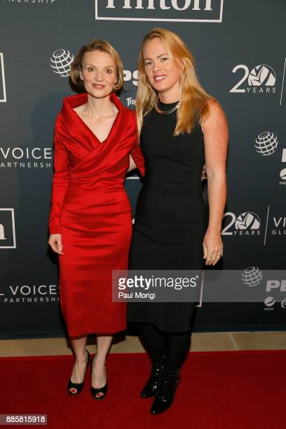 Presenter President and CEO Vital Voices Global Partnership Alyse Nelson and Elizabeth Buchanan attend Vital Voices Global Partnership 2017 Voices...