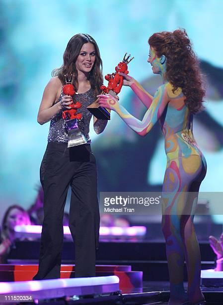 Presenter Rachel Bilson speaks at Spike TV's 2007 'Video Game Awards' at the Mandalay Bay Events Center on December 7 2007 in Las Vegas Nevada