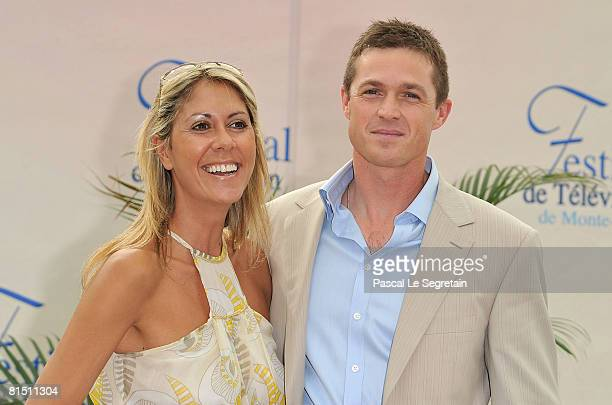TV presenter Rachel Bourlier and actor Eric Close as he promotes the television series FBI Ports Disparus on the third day of the 2008 Monte Carlo...