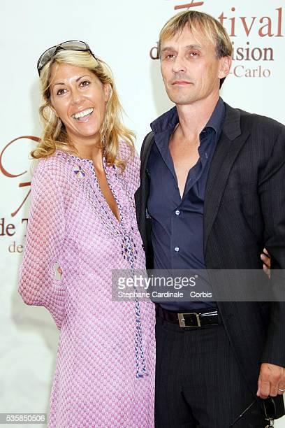 TV presenter Rachel Bourlier and actor Robert Knepper attend a photo call