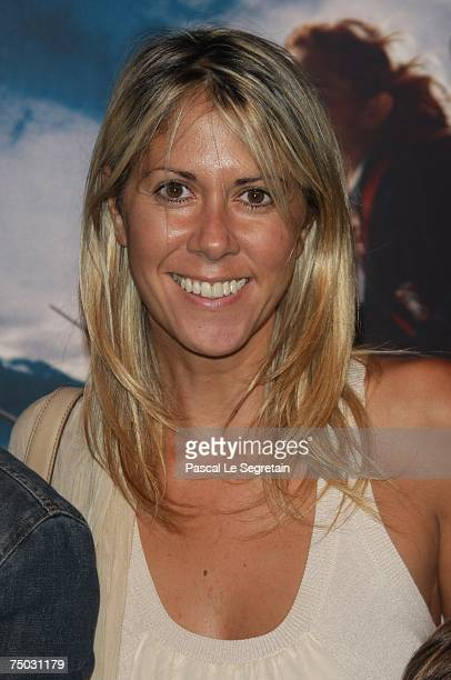 Presenter Rachel Bourlier attends the Premiere for the David Yates's film Harry Potter and the order of the phoenix on July 4 2007 in Paris France