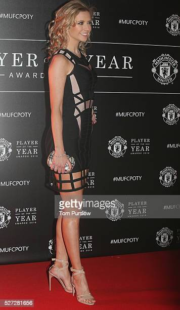 TV presenter Rachel Riley arrives at the club's annual Player of the Year awards at Old Trafford on May 2 2016 in Manchester England