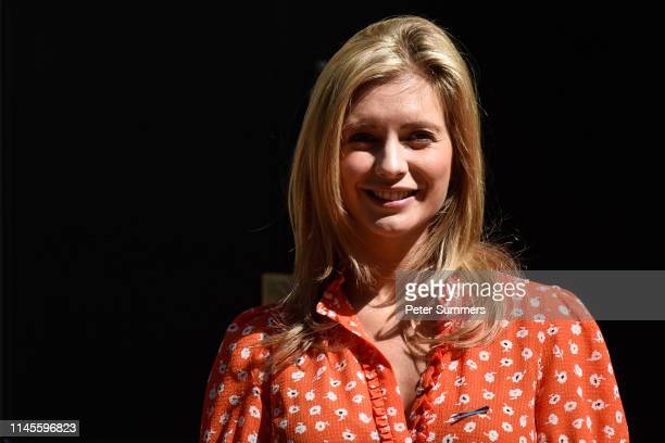TV presenter Rachel Riley hands in a petition to 10 Downing Street on May 23 2019 in London England Ms Riley joined other campaigners to hand in a...