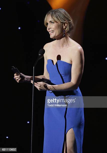 Presenter Radha Mitchell speaks on stage at The 6th AACTA International Awards on January 6 2017 in Los Angeles California