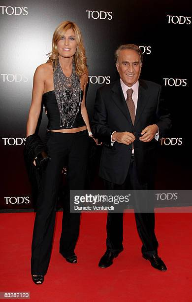 TV presenter Raffaella Zardo and TG4 news director Emilio Fede attend TOD'S Private Dinner hosted by Gwyneth Paltrow and Diego della Valle during...