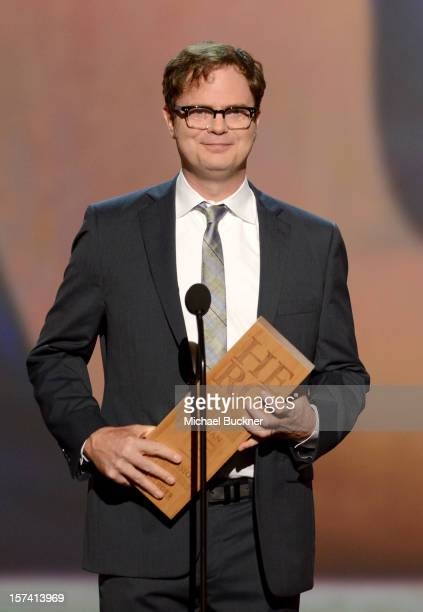 Presenter Rainn Wilson speaks onstage during the CNN Heroes An All Star Tribute at The Shrine Auditorium on December 2 2012 in Los Angeles California...