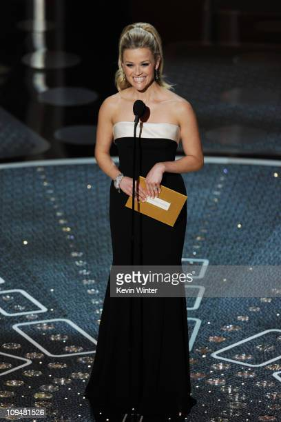 Presenter Reese Witherspoon speaks onstage during the 83rd Annual Academy Awards held at the Kodak Theatre on February 27 2011 in Hollywood California