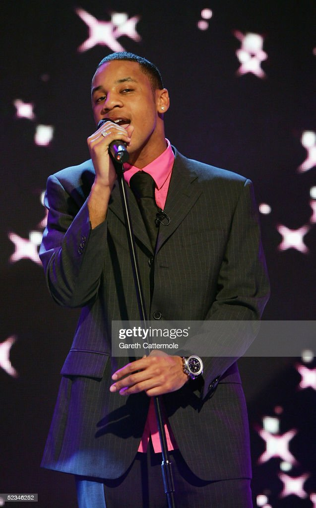 TV Presenter Reggie Yates is seen rehearsing ahead of the ninth eviction show for 'Comic Relief Does Fame Academy' at Lambeth College on March 9, 2005 in London. The new series sees 13 celebrities go head to head in the ultimate celebrity singing competition, with the grand final announcing the winner on March 11, Red Nose Day 2005.