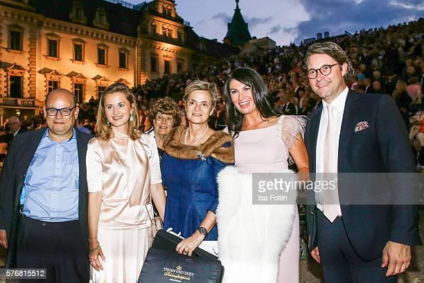 Presenter Reinhard Soell Sabine Scheuer Gloria von Thurn und Taxis Svetlana Panfilow and german politician Andreas Scheuer attend the Opera Gala With...
