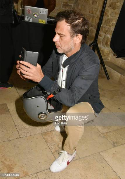TV presenter Ronald Quintrange from BFM TV attends the Archiman Men Body Care Launch Party at 22 Rue de L'Universite on June 14 2018 in Paris France