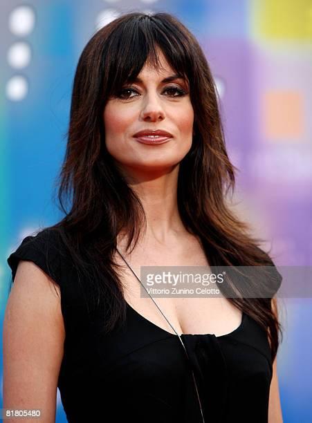 Presenter Rossella Brescia attends Mediaset TV programming presentation on July 2 2008 in Milan Italy