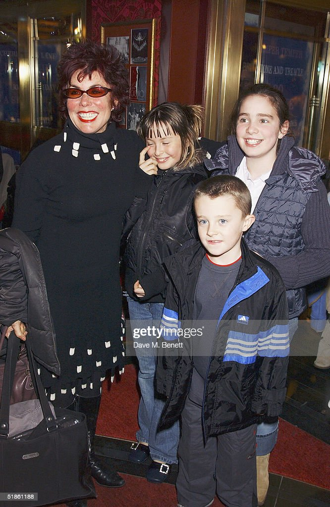 TV presenter Ruby Wax with daughters Marina and Madeline and son Max attend the 'Mary Poppins' Gala Preview ahead of tomorrow's press night at the Prince Edward Theatre on December 14, 2004 in London.
