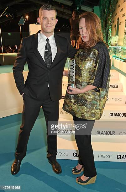 Presenter Russell Tovey and Writer of the Year winner Paula Hawkins attend the Glamour Women Of The Year awards at Berkeley Square Gardens on June 2...