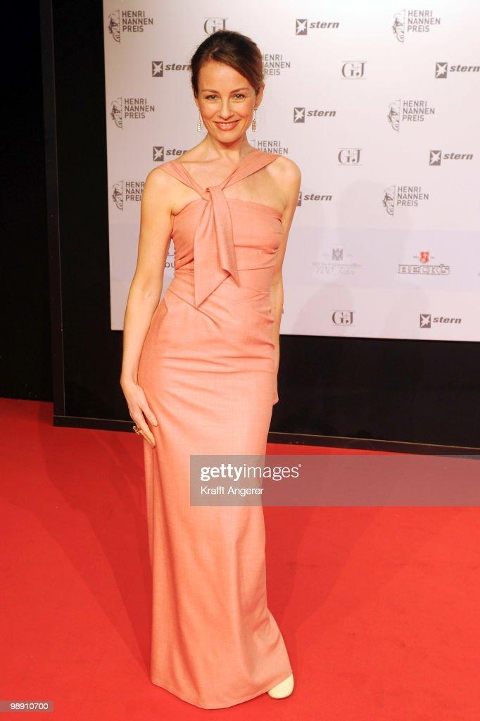Presenter Sabrina Staubitz attends the Henri-Nannen-Award at the Schauspielhaus on May 7, 2010 in Hamburg, Germany.