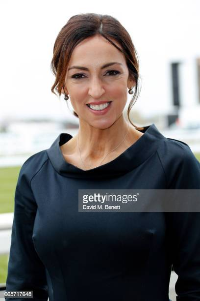Presenter Sally Nugent attends Ladies Day at The 2017 Randox Health Grand National Festival at Aintree Racecourse on April 7 2017 in Liverpool England