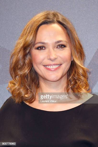 TV Presenter Sandrine Quetier attends Opening Ceremony during the 21st L'Alpe D'Huez Comedy Film Festival on January 16 2018 in Alpe d'Huez France