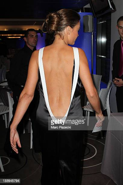 TV presenter Sandrine Quetier attends the Sport'A Vie Gala event at Stade de France on November 22 2011 in Paris France