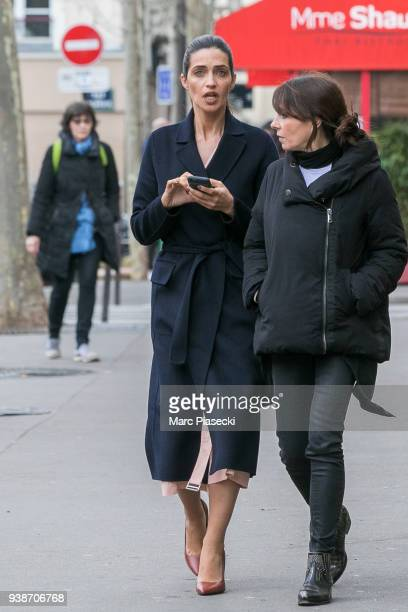 TV presenter Sara Carbonero is seen on March 26 2018 in Paris France