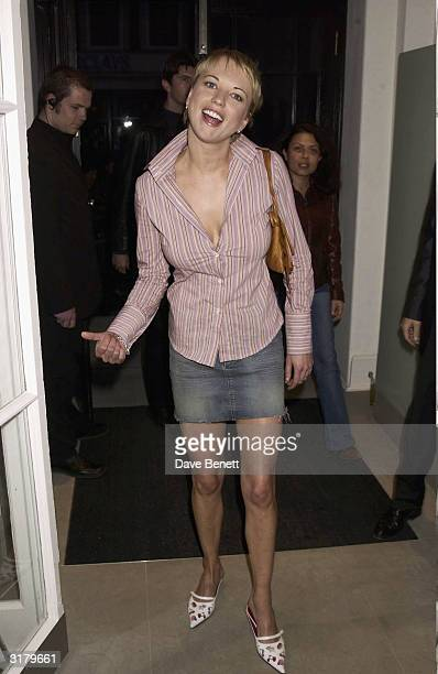 Presenter Sara Cox attends the launch party for the new Stella McCartney London clothes store on May 15th 2003 in London