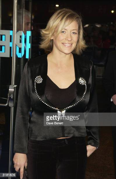 Presenter Sarah Beeny attends the Master and Commander The Far Side Of The World premiere at the Odeon Leicester Square on November 17 2003 in London