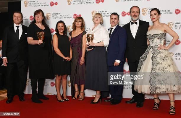 Presenter Sean Bean Sally Wainwright Nicola Shindler Siobhan Finneran Sarah Lancashire Con O'Neill and Kevin Doyle winners of the Drama Series award...