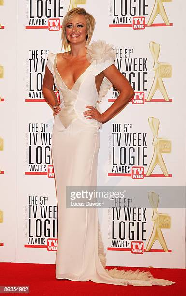 TV presenter Shelley Craft arrives for the 51st TV Week Logie Awards at the Crown Towers Hotel and Casino on May 3 2009 in Melbourne Australia