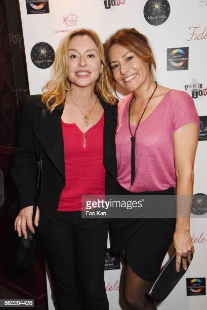 TV presenter Shirley Bousquet and actress Jeanne Savary attend the 'Souffle de Violette' Auction Party As part of 'Octobre Rose' Hosted by Ereel at...