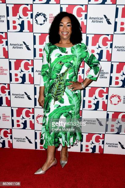 Presenter Shonda Rhimes attends Los Angeles LGBT Center's 48th Anniversary Gala Vanguard Awards at The Beverly Hilton Hotel on September 23 2017 in...