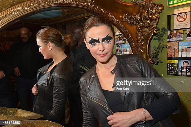 TV presenter /singer Sandrine Quetier attends 'The Jokers' Band Concert Party at Le Reservoir In Paris on March on March 13 2015 in Paris France
