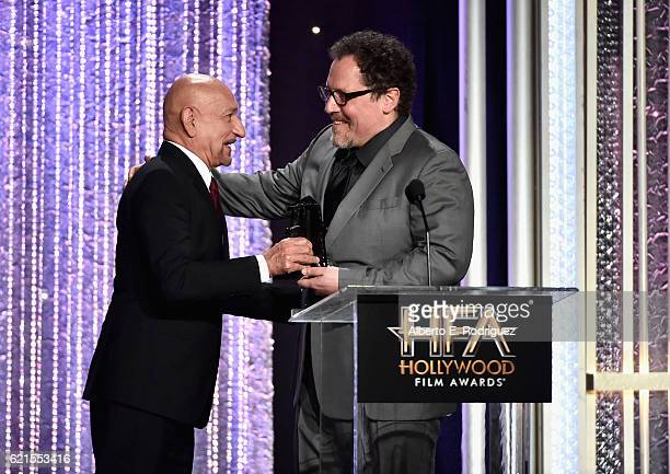 Presenter Sir Ben Kingsley and Director Jon Favreau recipient of the Hollywood Blockbuster Award for The Jungle Book speak onstage during the 20th...