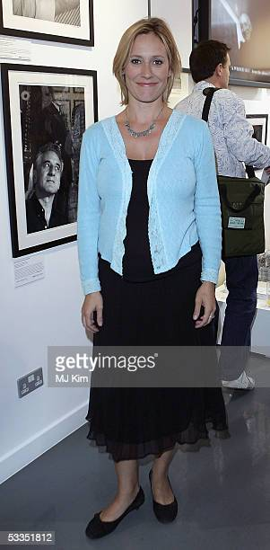 TV presenter Sophie Raworth is seen at the private view for Off Stage The RADA Centenary Portraits photographer Cambridge Jones's photographs of 100...