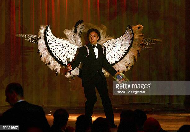 Presenter Stephane Bern on stage at the Rose Ball 2005 at The Sporting Monte Carlo on March 19 2005 in Monte Carlo Monaco