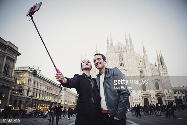 TV presenter Stephane Rotenberg is photographed with his daughter for Gala magazine on April 13 2016 in Milan Italy
