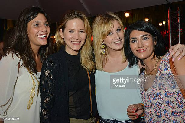 TV presenter Stephanie Loire and guests attend 'La Boumette' Party at L'Opera Restaurant on June 7 2014 in Paris France