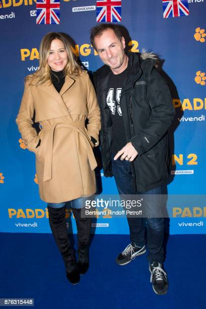 Presenter Stephanie Loire and Journalist JeanPhilippe Doux attend 'Paddington 2' Paris Premiere at L'Olympia on November 19 2017 in Paris France