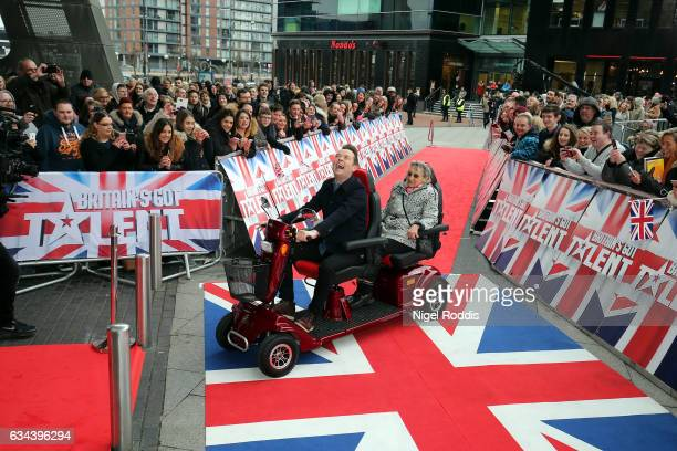 Presenter Stephen Mulhern arrives for the Britain's Got Talent Manchester auditions on February 9 2017 in Manchester United Kingdom