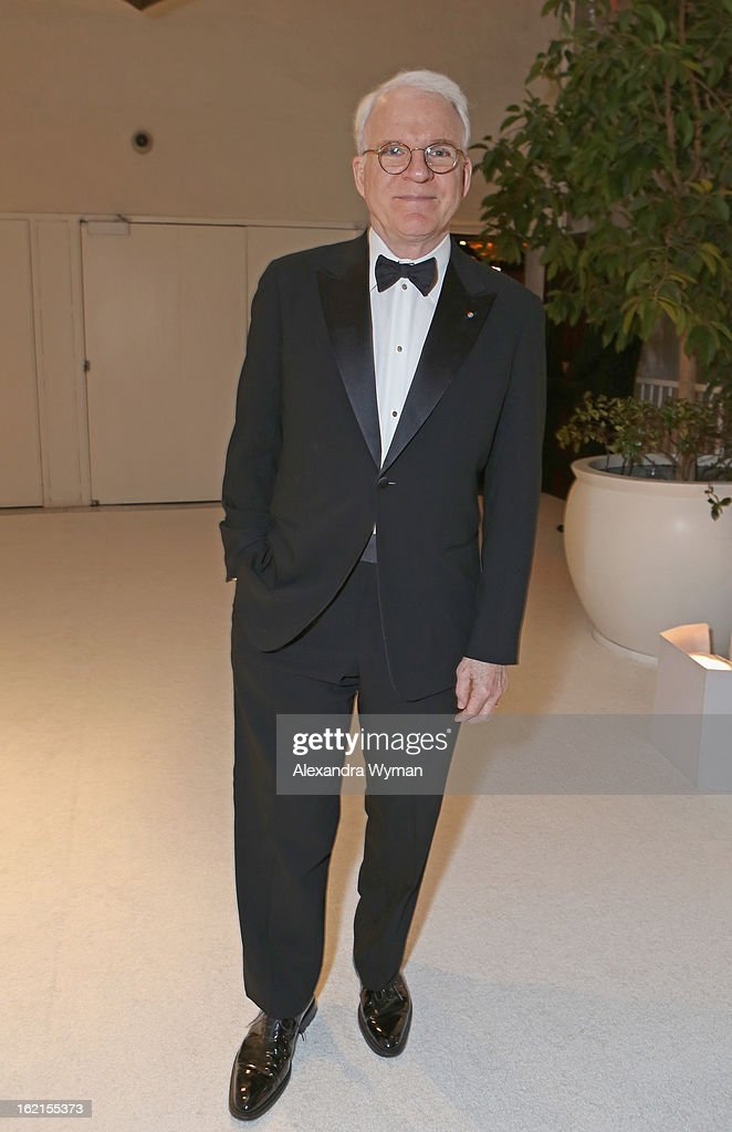 Presenter Steve Martin attends the 15th Annual Costume Designers Guild Awards with presenting sponsor Lacoste at The Beverly Hilton Hotel on February 19, 2013 in Beverly Hills, California.
