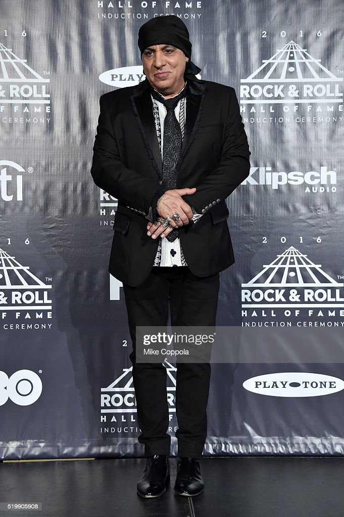 Presenter Steven Van Zandt attends the 31st Annual Rock And Roll Hall Of Fame Induction Ceremony at Barclays Center on April 8, 2016 in New York City.