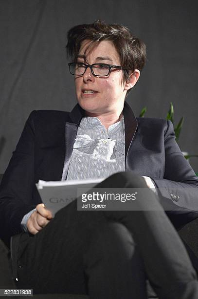 Presenter Sue Perkins during Game of Thrones From Page to Screen part of Advertising Week Europe 2016 day 4 at Picturehouse Central on April 21 2016...