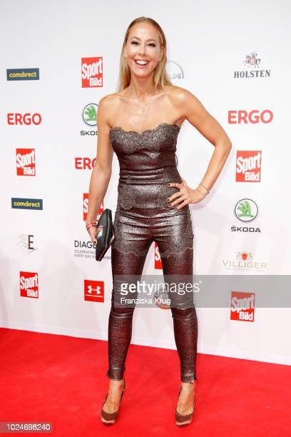 Presenter Sylvia Walker attends the Sport Bild Award on August 27 2018 in Hamburg Germany