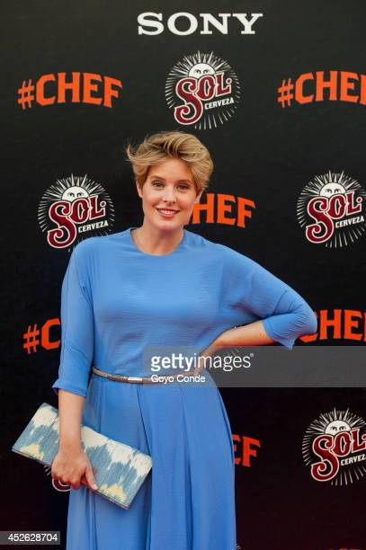 TV presenter Tania Llasera attends 'Chef' Madrid premiere at the Callao cinema on July 24 2014 in Madrid Spain