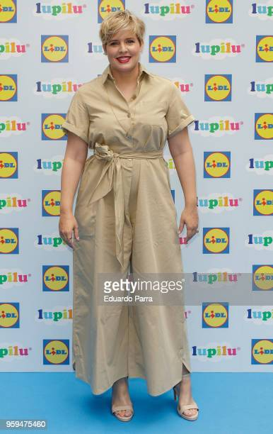 TV presenter Tania Llasera attends the 'Lupilu by Lidl' photocall at El jardin de Recoletos hotel on May 17 2018 in Madrid Spain