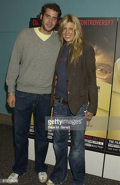 TV Presenter Tania Strecker with Anthony de Rothschild at the charity premiere of Michael Moore's controversial new film 'Fahrenheit 9/11' on June 29...