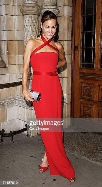 TV presenter Tara PalmerTomkinson arrives at The Bedrock Ball at the Natural History Museum where Tina Turner is due to perform for the first time in...