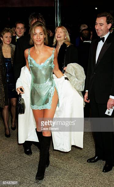TV presenter Tara PalmerTomkinson attends the UK premiere of the movie 'Evita' at the Empire Leicester Square on December 20 1996 in London