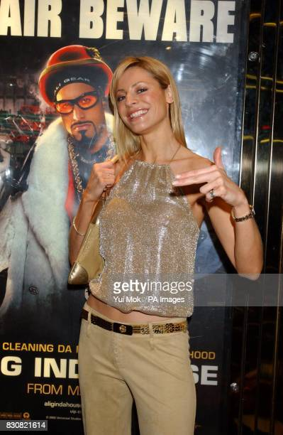 TV presenter Tess Daly arriving at the Empire Cinema in London's Leicester Square for the premiere of Ali G InDaHouse
