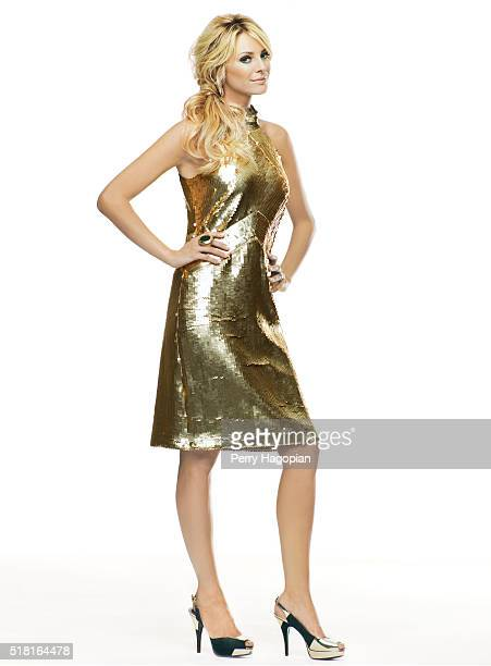 TV presenter Tess Daly poses at a portrait session for Cosmopolitan UK on August 28 2008 in London England